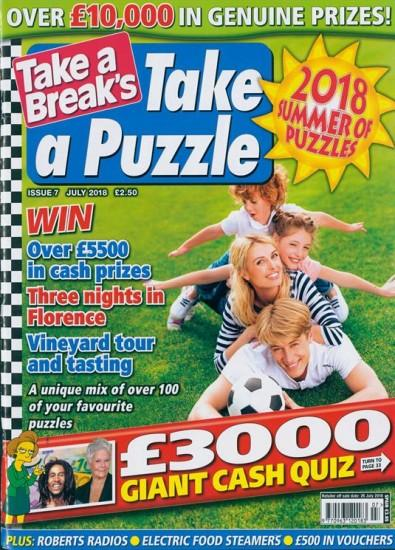 Take a Break's Take a Puzzle magazine cover