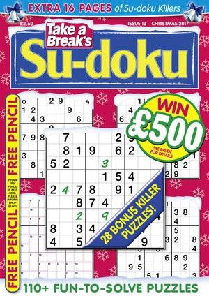 Take A Break's Su-doku magazine cover