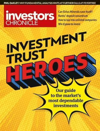 Investors Chronicle- Print + digital + Alpha magazine cover