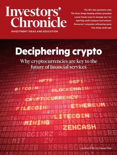 Investors' Chronicle- Print + digital magazine cover