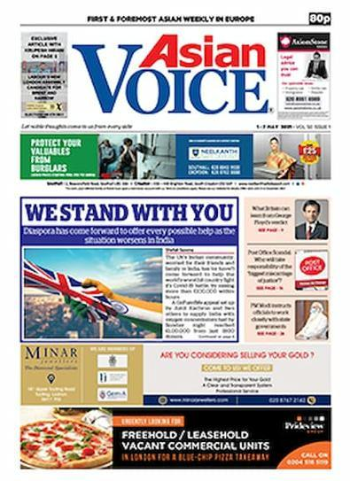 Asian Voice newspaper cover