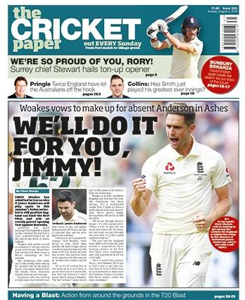 The Cricket Paper newspaper cover