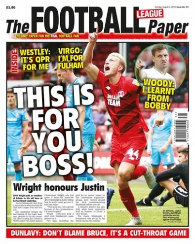 The Football League Paper newspaper cover