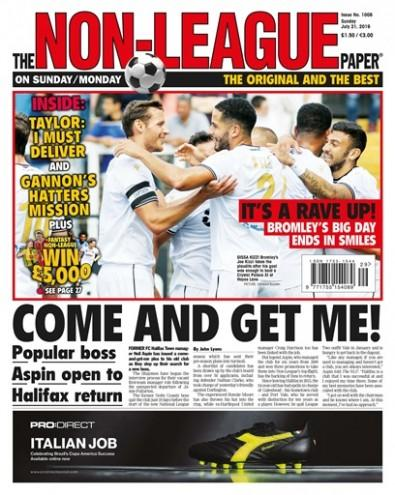 The Non-League Paper newspaper cover