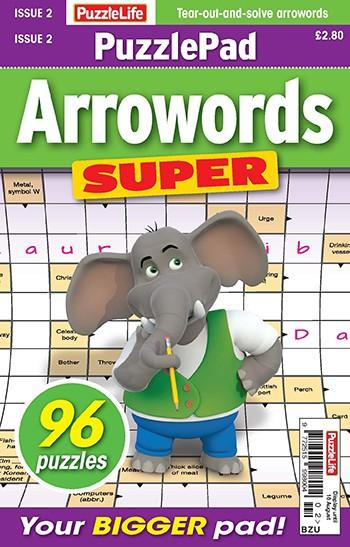 PuzzleLife PuzzlePad Arrowords Super magazine cover