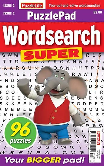PuzzleLife PuzzlePad Wordsearch Super magazine cover