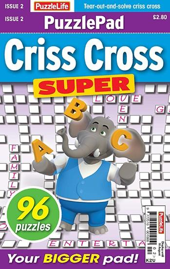PuzzleLife PuzzlePad Criss Cross Super magazine cover