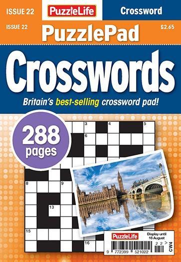 PuzzleLife PuzzlePad Crosswords magazine cover