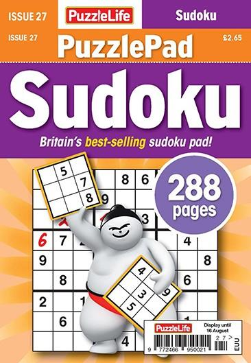 PuzzleLife PuzzlePad Sudoku magazine cover