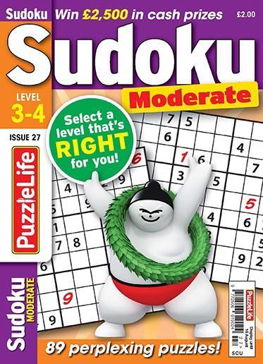 PuzzleLife Sudoku Moderate 3-4 magazine cover