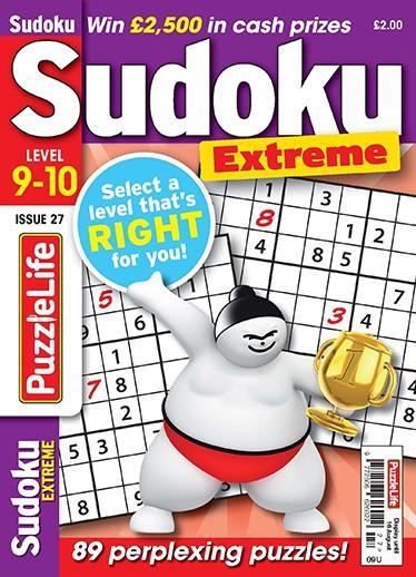 PuzzleLife Sudoku Extreme 9-10 magazine cover