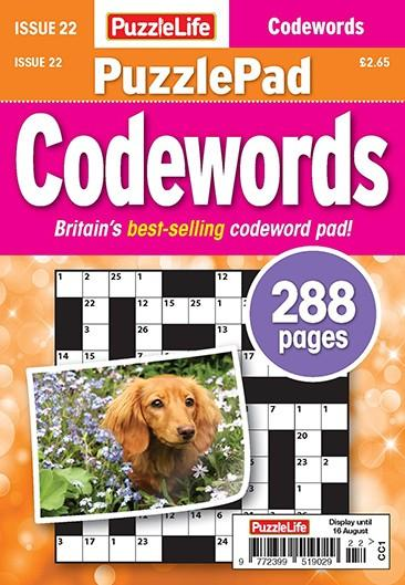 PuzzleLife PuzzlePad Codewords magazine cover