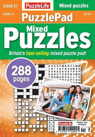PuzzleLife PuzzlePad Puzzles magazine cover