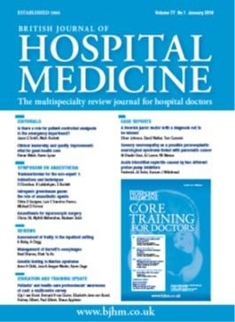 British Journal of Hospital Medicine magazine cover