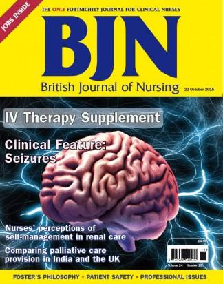 British Journal of Nursing magazine cover