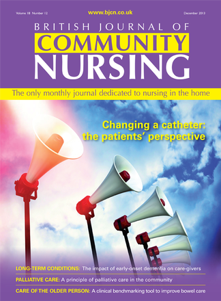 British Journal of Community Nursing magazine cover