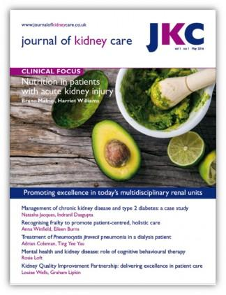 Journal of Kidney Care magazine cover