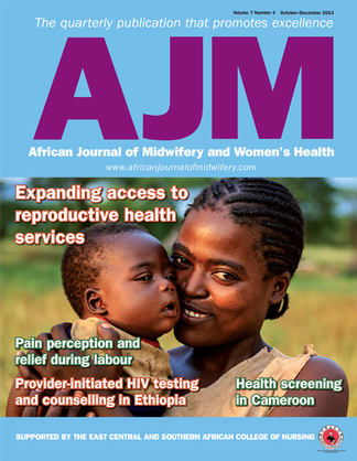 African Journal of Midwifery and Women's Health magazine cover