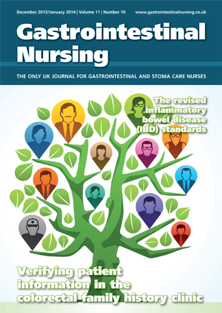 Gastrointestinal Nursing magazine cover