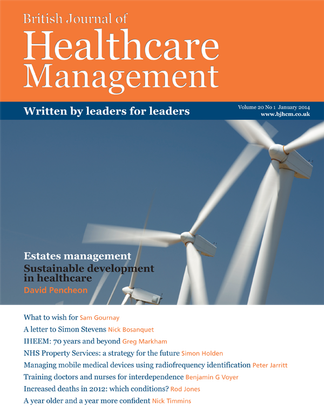 British Journal of Healthcare Management magazine cover