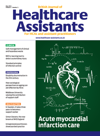 British Journal of Healthcare Assistants magazine cover