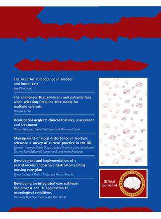 British Journal of Neuroscience Nursing magazine cover