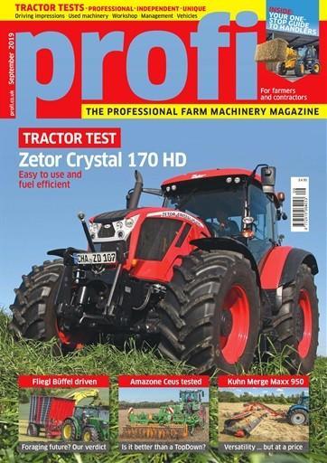 Profi Tractors and Farm Machinery magazine cover