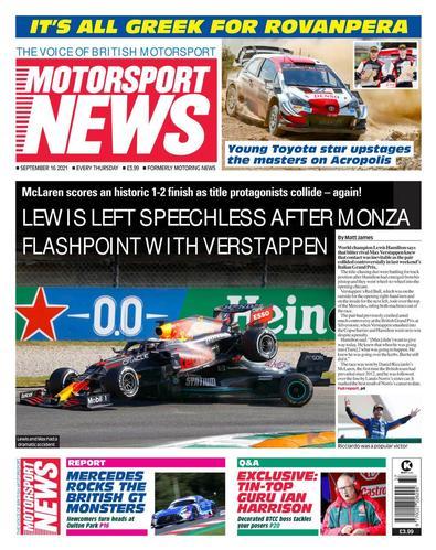 Motorsport News magazine cover