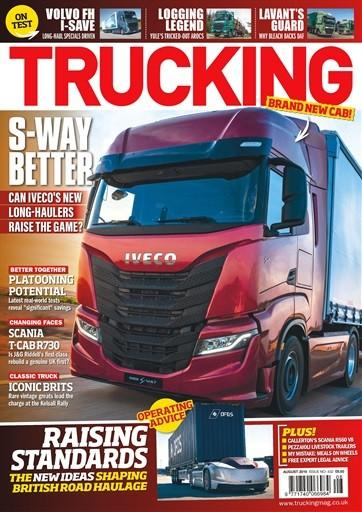 Trucking magazine cover