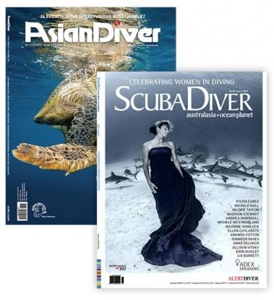 Asian Diver & Scuba Diver Australasia and Ocean Planet Magazine cover