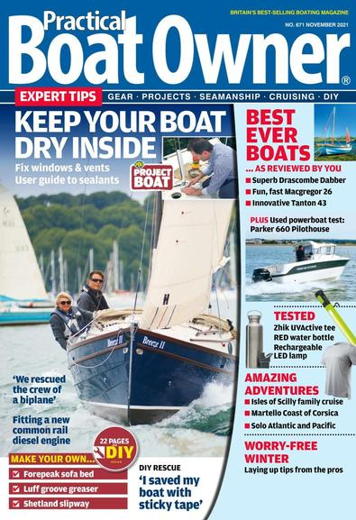 Practical Boat Owner magazine cover