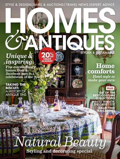 Homes & Antiques magazine cover