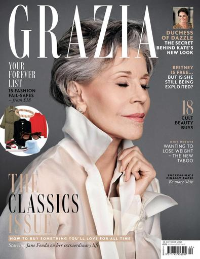 Grazia digital cover