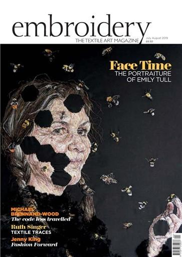 Embroidery magazine cover