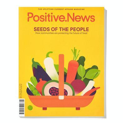 Positive News magazine cover