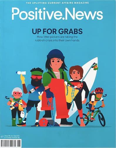 Positive News magazine cover