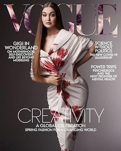 Vogue USA. magazine cover