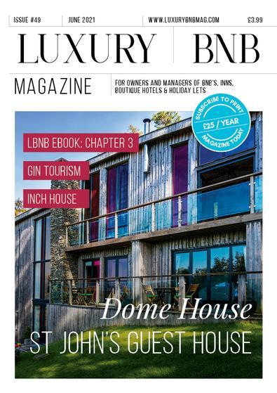 Luxury BnB magazine cover