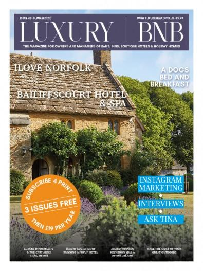 Luxury BnB magazine cover