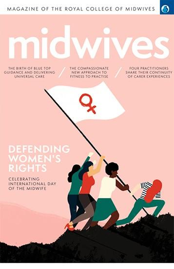 Midwives magazine cover