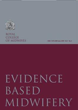 Evidence Based Midwifery (EBM) magazine cover