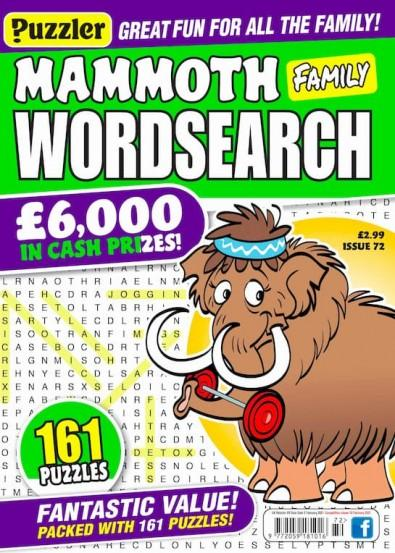 Mammoth Family Wordsearch magazine cover
