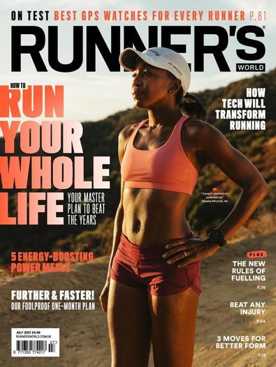 Runner's World magazine cover