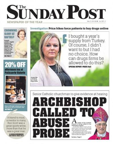 The Sunday Post newspaper cover
