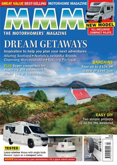 MMM The Motorhomers magazine cover