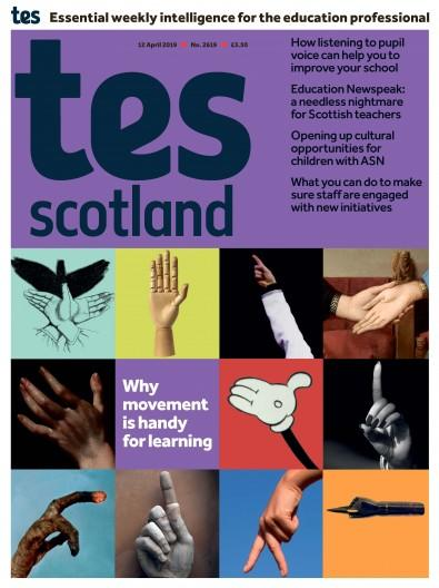 TES Scotland magazine cover