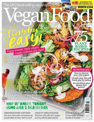 Vegan Food & Living magazine cover