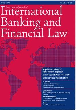 Butterworths Journal of International Banking and Financial Law magazine cover
