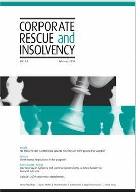 Corporate Rescue and Insolvency magazine cover