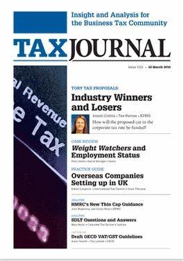 The Tax Journal magazine cover